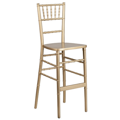 Gold Stackable Wood Chiavari Bar stool