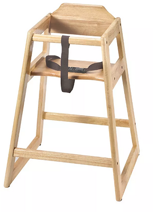 Natural Stackable High Chair