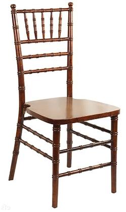Walnut Stackable Wood Chiavari Chair