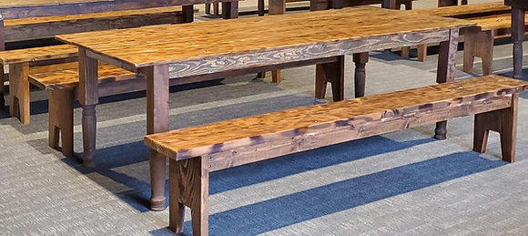 Old Country Rustic Table and Bench
