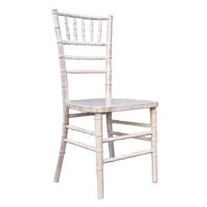 White Rustic Stackable Wood Chiavari Chair