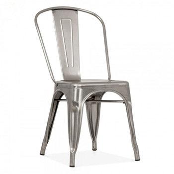 Gunmetal Cafe Chair