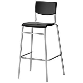 Black Stackable Bistro Bar stool