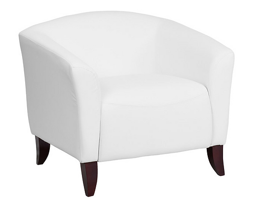 White Leather Arm Chairs