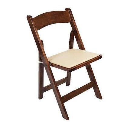 Walnut Foldable Wood Chair