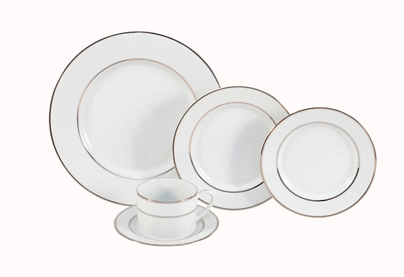 Silver Bands Dinnerware
