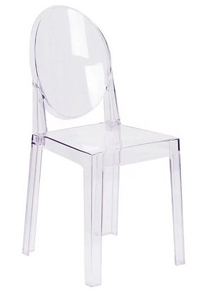 Clear Armless Stackable Ghost Chair