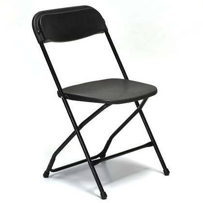 Black Plastic Samsonite Chair