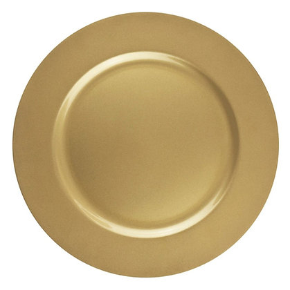"""Gold Acrylic Charger 12"""""""