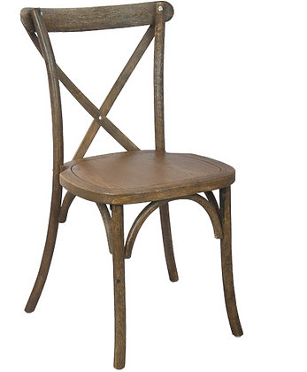 Black Grain Crossback Stackable Wood Chair
