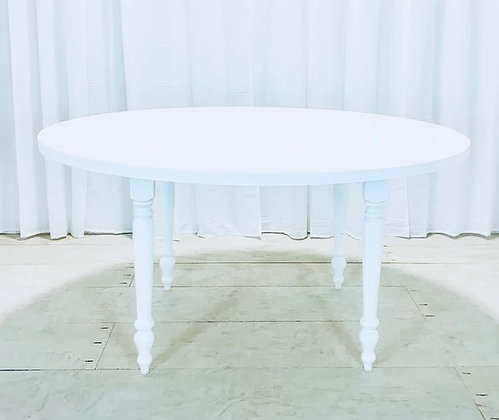 Classic White Round Table