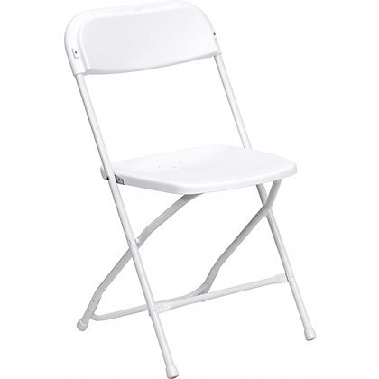 White Plastic Samsonite Chair