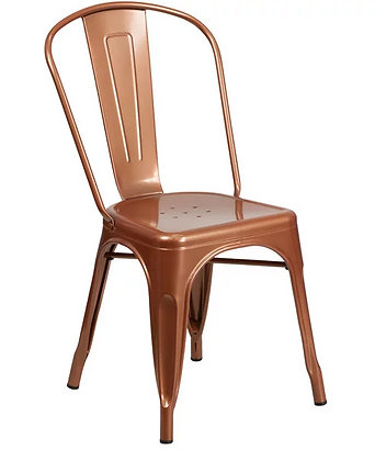 Copper Metal Cafe Chair