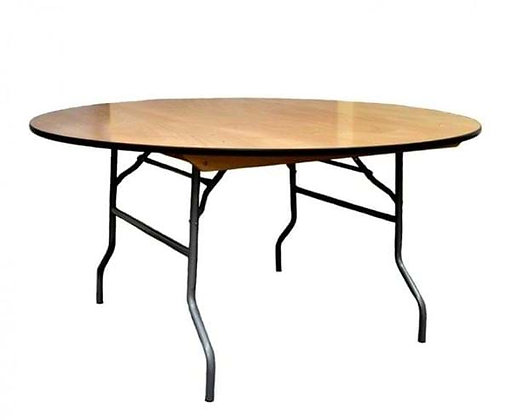 Round Foldable Wood Table