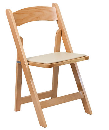 Natural Foldable Wood Chair