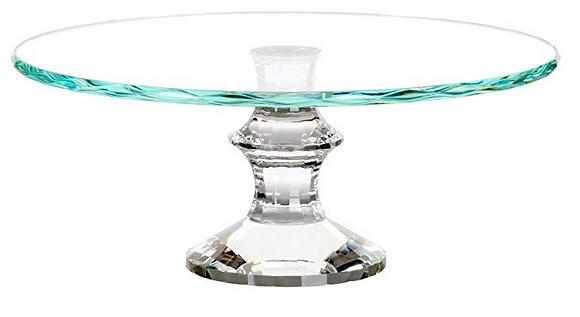 "12"" Glass Cake Stand"