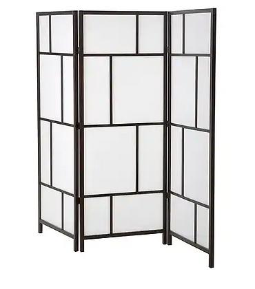 White and Black Folding Screen