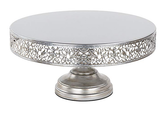 "14"" Silver Vintage Cake Stand"