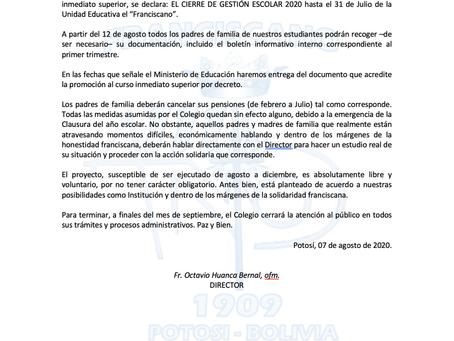 Comunicado 09/2020