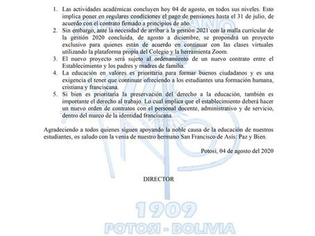 Comunicado 07/2020