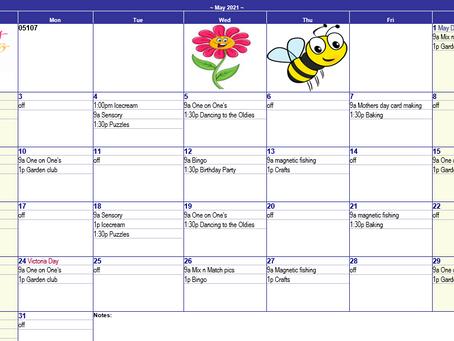 May 2021 Recreation Calendar - Gala Lane