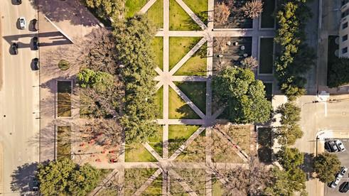 Burnett Park overhead
