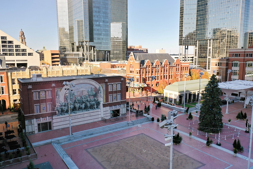 The Chisolm Trail Mural on the Jett Building in downtown Fort Worth