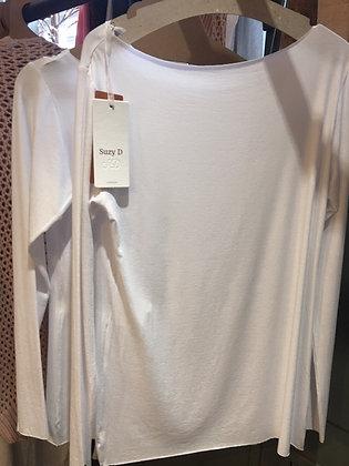 White Long Sleeve Viscose Top