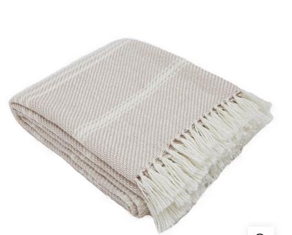 Weaver Green Blanket - Shell Stripe