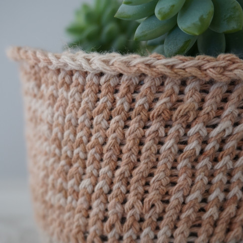 knitted planters