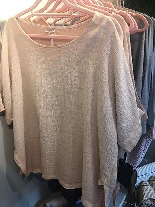 Oversize linen/cotton top