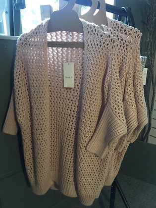 Long Slouch Soft Pink Cardigan