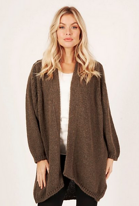 Slouch cardi in olive