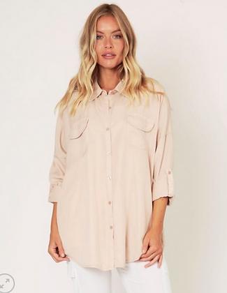 Oversize soft pocket shirt