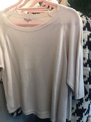 Beige viscose summer knit