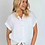 Thumbnail: White linen front jersey back tie top