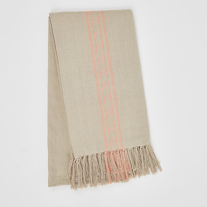 Weaver Green Antibes coral throw