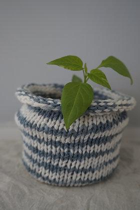 indigo stripe planter