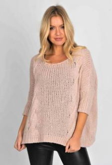Chunky knit Soft Pink Sweater