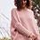 Thumbnail: Blush chunky knit sweater