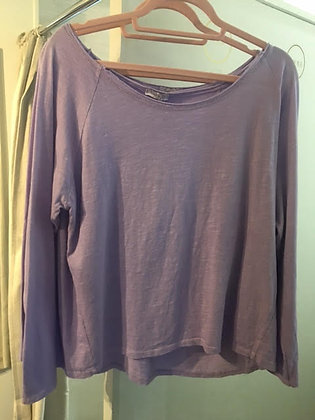Lilac slouch cotton top