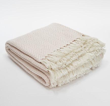 Weaver Green shell herringbone blanket