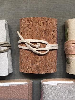 Mini Handmade Notebook - Cork/Cream