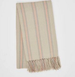 Weaver Green Antibes grey/coral throw