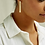 Thumbnail: Long Bar Brass Earrings