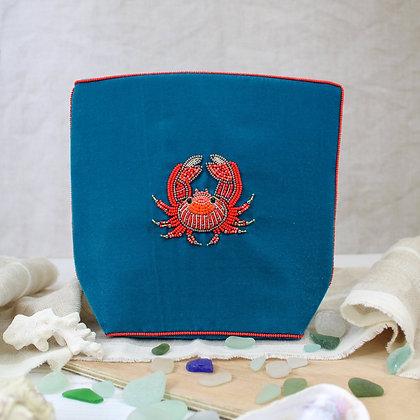 Hand beaded make up bag