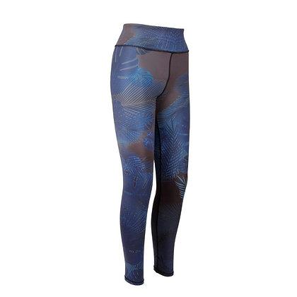Eco friendly workout leggings - blue tropical