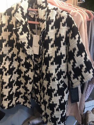 Three quarter sleeve cotton mix jacket