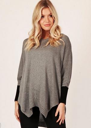 Grey soft knit sweater