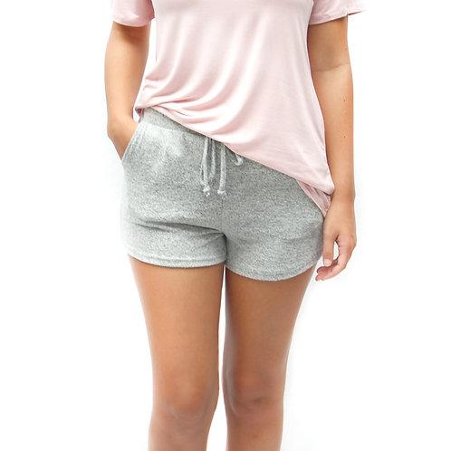 Brushed Hacci Shorts Heather Gray